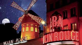 Espectáculo en el Moulin Rouge